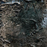 Abstract old brown and silver painted acrylic or oil paints texture background Stock Images