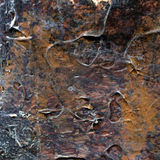 Abstract old brown and silver painted acrylic or oil paints texture background Royalty Free Stock Photos