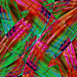 Abstract old chaotic pattern with colorful translucent curved li Stock Photos