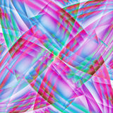 Abstract old chaotic pattern with colorful translucent curved li Stock Image