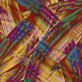 Abstract old chaotic pattern with colorful translucent lines Stock Images