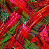 Abstract old chaotic pattern with colorful translucent  lines Stock Photo