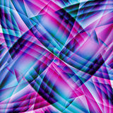 Abstract old chaotic pattern with colorful translucent  lines Stock Image