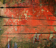 Abstract the old grunge wall. For background Stock Images