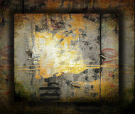 Abstract the old grunge wall background royalty free stock photography