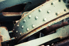 Abstract old industrial mechanism details assembly Royalty Free Stock Images