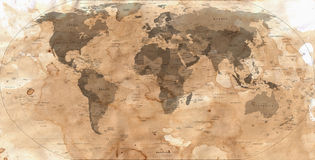 Abstract old map of the world Stock Photography