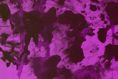 Abstract old purple randomly painted canvas, fabric with color paint spots and blots texture for design purposes. Design vintage purple randomly painted canvas royalty free stock photography
