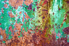 Abstract old rusty painted cracked metal background Stock Photos
