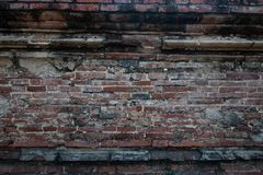 Abstract old wall brick brackground . Abstract old wall brick brackground at the temple stock photos