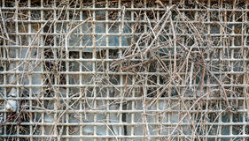 Abstract of an Old Wired Fence Royalty Free Stock Photo