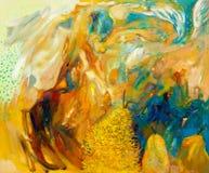 Abstract olieverfschilderij Stock Foto's