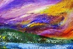 Abstract olieverfschilderij Royalty-vrije Stock Afbeelding
