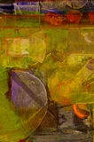 Abstract olieverfschilderij Stock Afbeeldingen