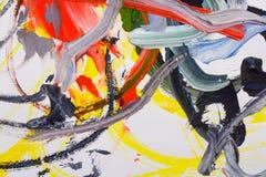 Abstract olieverfschilderij Stock Afbeelding
