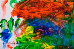Abstract olieverfschilderij Stock Foto
