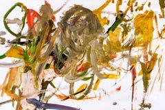 Abstract olieverfschilderij Royalty-vrije Stock Foto's