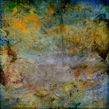 Abstract olieverfschilderij Stock Foto