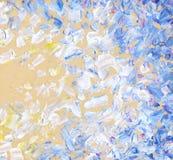 Abstract olieverfschilderij Achtergrond van blauwe hemel Royalty-vrije Stock Foto