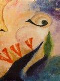 Abstract olieverfschilderij in de stijl van Salvador Dali Stock Afbeelding