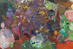 Abstract olieverfschilderij op palets stock fotografie
