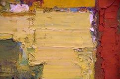 Abstract olieverfschilderijkunstwerk Stock Afbeelding