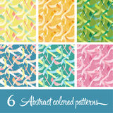 6 Abstract сolored patterns. 6 Abstract сolored vector patterns vector illustration