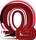 Abstract omega Symbool Royalty-vrije Stock Afbeeldingen
