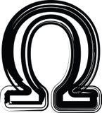 Abstract omega teken Royalty-vrije Stock Fotografie