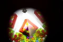 Abstract Onderzoekend Geometrische Vormen Caleidoscoop Als achtergrond Royalty-vrije Stock Afbeelding