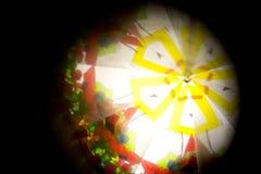 Abstract Onderzoekend Geometrische Vormen Caleidoscoop Als achtergrond Stock Foto's