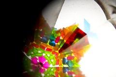 Abstract Onderzoekend Geometrische Vormen Caleidoscoop Als achtergrond Royalty-vrije Stock Foto's
