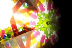 Abstract Onderzoekend Geometrische Vormen Caleidoscoop Als achtergrond Royalty-vrije Stock Afbeeldingen
