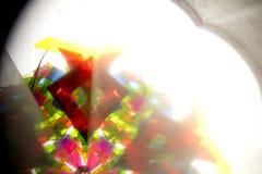Abstract Onderzoekend Geometrische Vormen Caleidoscoop Als achtergrond Stock Afbeelding