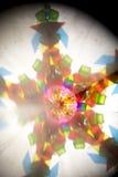 Abstract Onderzoekend Geometrische Vormen Caleidoscoop Als achtergrond Stock Foto