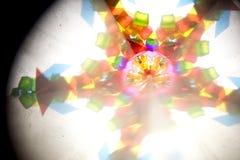 Abstract Onderzoekend Geometrische Vormen Caleidoscoop Als achtergrond Royalty-vrije Stock Foto