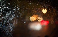 Abstract onduidelijk beeld blackground met hart bokeh Royalty-vrije Stock Afbeeldingen