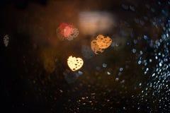 Abstract onduidelijk beeld blackground met hart bokeh Stock Afbeeldingen