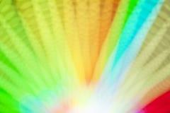 Abstract onduidelijk beeld bokeh van kleurrijke lichten binnen pretparktunnel bij nacht Royalty-vrije Stock Fotografie