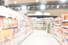 Abstract onduidelijk beeld en bokeh in winkelcomplex Royalty-vrije Stock Afbeeldingen