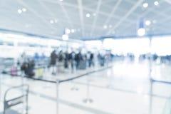 abstract onduidelijk beeld in luchthaven Stock Afbeelding