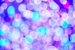Abstract onduidelijk beeld met bokhe van geleid licht Royalty-vrije Stock Foto