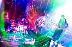 Abstract onduidelijk beeld van een band Stock Afbeeldingen