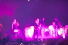 Abstract onduidelijk beeld van een band Stock Foto