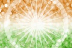 Abstract onduidelijk beeldontwerp als achtergrond van de vlag van India en bokeh Royalty-vrije Stock Afbeeldingen