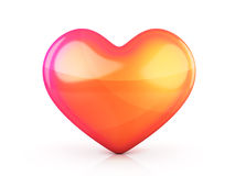 Abstract one heart. On white background (done in 3d vector illustration