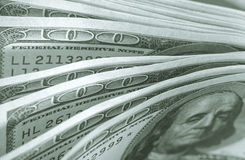 An abstract of one hundred American dollar bills. Stock Images