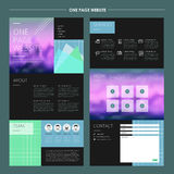 Abstract one page website template design Stock Photos