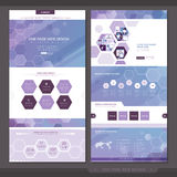 Abstract one page website template design Stock Photo