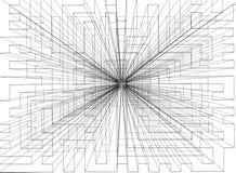 Abstract Ontwerp - Architect geïsoleerd Blueprint - stock illustratie